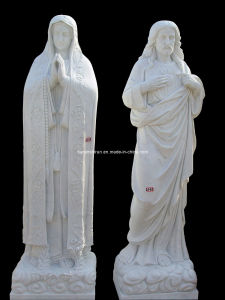 Stone Carving Holly Virgin Mother Maria Statue Sculpture (LL60) pictures & photos