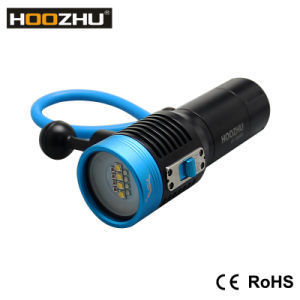 Professional Waterproof LED Flashlight for Diving Video Light Hoozhu V30 pictures & photos