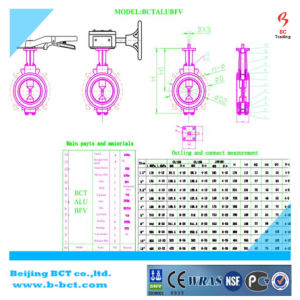 Aluminum Alloy Buterfly Valve JIS 10 Standards with Double Pneumatic Actuator Bct-Alu-Bfv05 pictures & photos