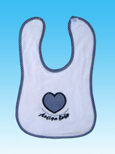 More Than 95% Cotton Double Printed Baby Saliva Animal Baby Bib pictures & photos