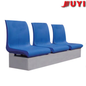 Factory Price Playground Outdoor Powder Coating Steel Leg Sport Stadium HDPE Plastic Stable 3-Seater Waiting Chair pictures & photos