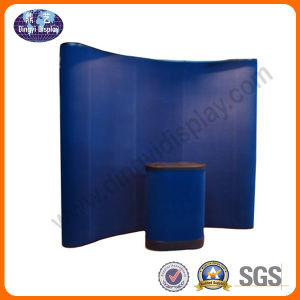 10FT Curvy Lint Panel Pop up Display Stand for Trade Show pictures & photos