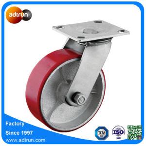 Heavy Duty Swivel Polyurethane Cast Iron Core Wheel Caster pictures & photos