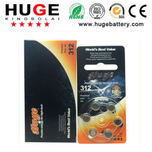 1.4V Zinc Air Battery Hearing Aid Battery A312 pictures & photos