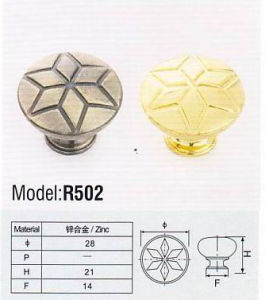 R502 Colorful Hardware Zinc Furniture Handle pictures & photos