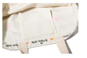 Full Screen Printing Cotton Canvas Handle Bags, Packing Bag pictures & photos
