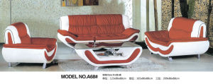 Factory Wholesale Price Living Room Genuine Leather Sofa Furniture (A68) pictures & photos
