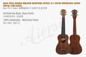 Koa Piki Koko Brand Long Neck Soprano Ukulele pictures & photos