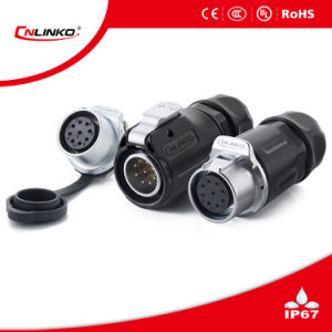 9 Pin Waterproof IP67 Cable Signal Connector pictures & photos