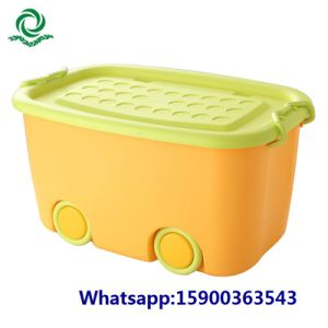 Colorful Various Sizes Plastic Storage Box Case with Wheels / Lid / Handles pictures & photos