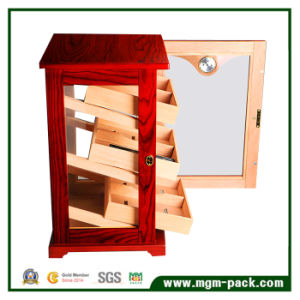 Standing Foot Wood Cigar Cabinet with Glass Door pictures & photos