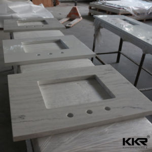 Precut 20mm Thickness Soild Surface Bathroom Vanities pictures & photos