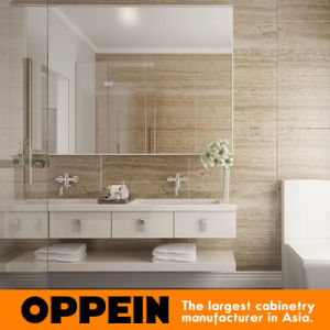 Oppein Australia Villa Modern White Lacquer Double Bathroom Vanity (BC15-L03) pictures & photos