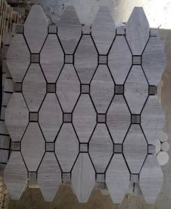 Octagon Mosaic Tile Gray Marble Stone Mosaic (HSM208) pictures & photos