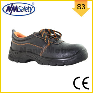 Nmsafety Low Cut Cow Split Leather CE Approved Safety Shoes pictures & photos