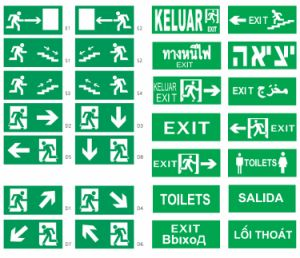The Best Selling Wall Mounted Light Emergency with Exit Sign for Fire Escape pictures & photos