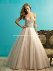 High Quality Beading Ball Gown Empire Wedding Brdial Dress pictures & photos