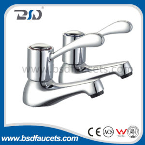 "1/4"" Turn Low Neck Brass Wash Basin Pillar Tap pictures & photos"