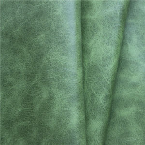 High Quality Plain Microfiber Imitated Sofa Upholstery Leather pictures & photos