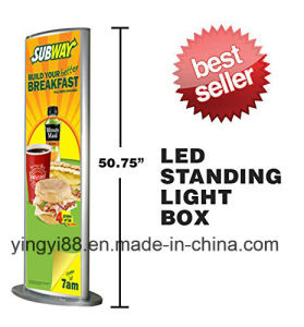 Custom LED Floor Standing Advertising Light Box (YYB-08) pictures & photos