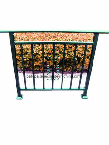 Building Guardrail Balcony Baluster Residential Guardrails Iron Fence Powder Coated Metal Fences pictures & photos