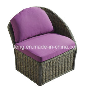 Easy Cleaning Rattan Outdoor Sofa Set with Ottoman pictures & photos