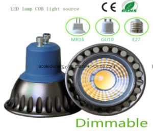 Ce and Rhos Dimmable GU10 3W COB LED Spot Light pictures & photos