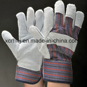 Industrial Short Cowhide Leather Working Gloves,Safety Working Gloves,10.5′′patched Palm Leather Gloves,Cow Split Leather Full Palm Working Glove,Driver Gloves