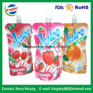 Plastic Liquid Standup Spout Pouch for Fruit Juice Packaging Bag