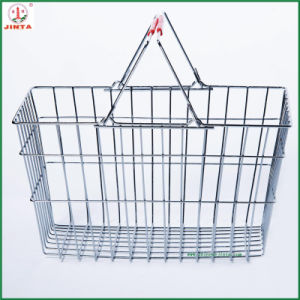 2015 New and Stylish Metal Wire Shopping Basket (JT-G27) pictures & photos