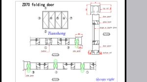 Customized Aluminum Folding Door with Double Glazing pictures & photos