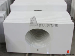 White Artificial Quartz Vanity Top for Hotel Project pictures & photos