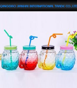 480ml Retro Colorful Party Beer Drinking Mug Mason Jar pictures & photos