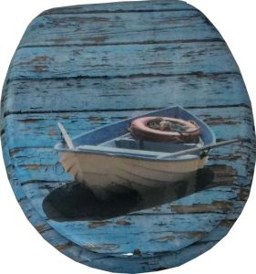 Printing Moulded Wood Toilet Seat (boat)