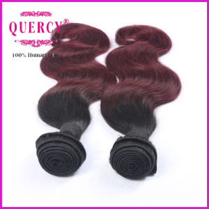 Two Tone Ombre Colored Hair Weave Bundles 10-30 Inches Human Hair Extensions Wholesale Price pictures & photos