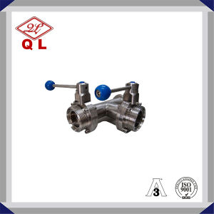 304/316L Sanitary Stainless Steel Threaded Butterfly Valve pictures & photos