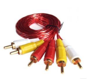 Manufacture 1.5m Transparent PVC 3RCA to 3RCA Cable (ca-002) pictures & photos