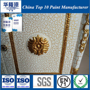 Hualong Eco-Friendly Golden Crack Paint for Wooden Furniture pictures & photos