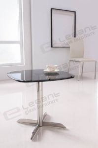 Durable Grey Glass Tea Table for Living Room pictures & photos