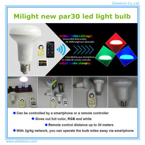 LED Light Bulb Lamp E27 WiFi Remote Control Lampada PAR30