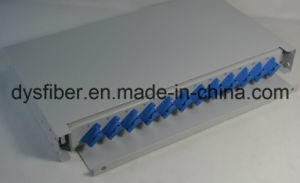 24 Cores Sc Sm Dx 1u Optical Fiber Rack Mount pictures & photos