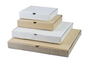 White Color 4 Sizes Corrugated Paper Cardbaord Pizza Boxes pictures & photos