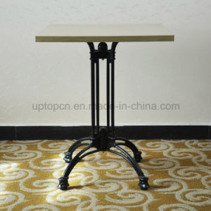 Antique Cast Iron Base Werzalit Moulded Board Dining Table (SP-RT472) pictures & photos