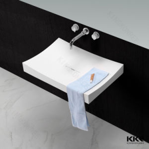 Modern Solid Surface Bathroom Wall-Hung Wash Basins pictures & photos