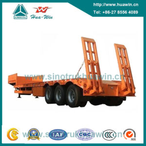 Triple Axle Low Bed Semi Trailer pictures & photos
