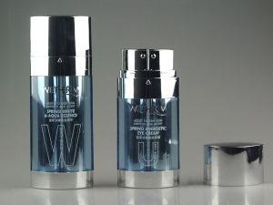 Bright Blue Acrylic Airless Lotion Bottle for Cosmetic Packaging (PPC-AAB-018) pictures & photos