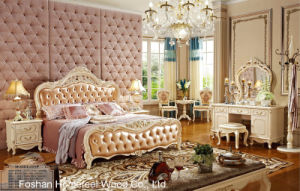 Best Quality Classical Wooden Bedroom Furniture Set (HF-MG820) pictures & photos