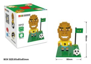 10172312-Football Star Figure Shape ABS Building Block Educational Decoration Toy for Spatial Thinking pictures & photos
