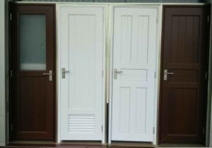Conch 75 Casement Type Bathroom Door PVC/UPVC Profile pictures & photos