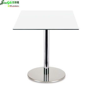 Jialifu Fast Food Laminate Sheet High Gloss Extendable Dining Table pictures & photos